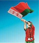 Belarus Waving Flag Soccer Fan