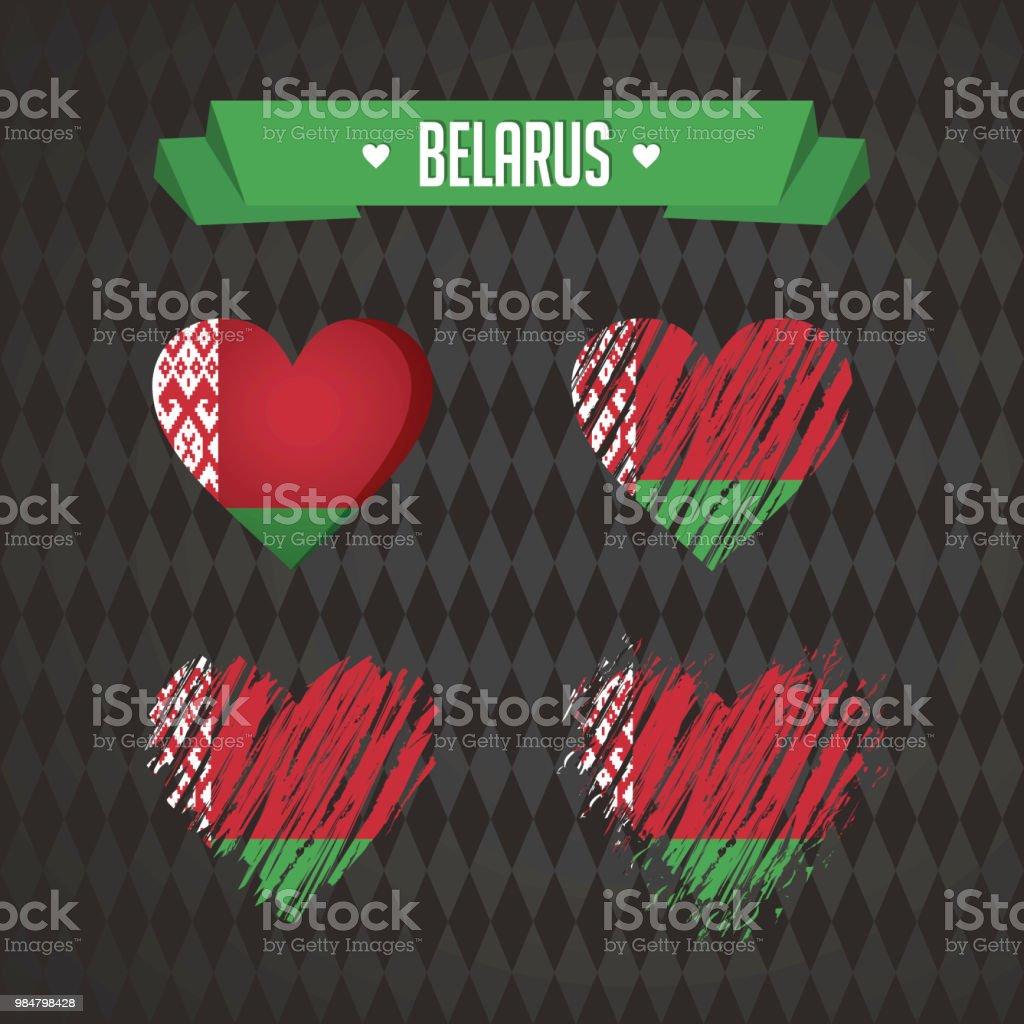 Belarus with love. Design vector broken heart with flag inside. vector art illustration