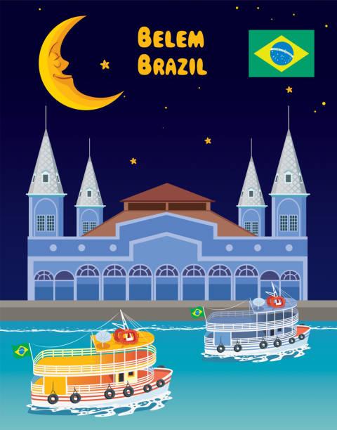 ilustrações, clipart, desenhos animados e ícones de belém, brasil - manaus