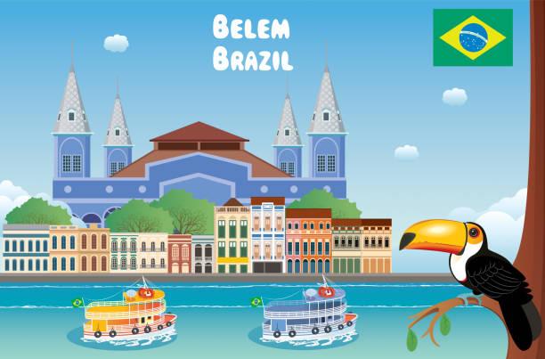 ilustrações, clipart, desenhos animados e ícones de belém brasil - manaus