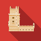 istock Belem Tower Portugal Icon 1133054378