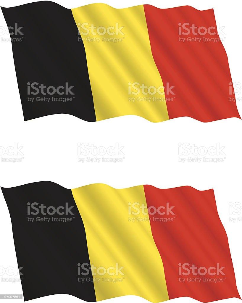 Belgian Flag Flying in the Wind royalty-free stock vector art