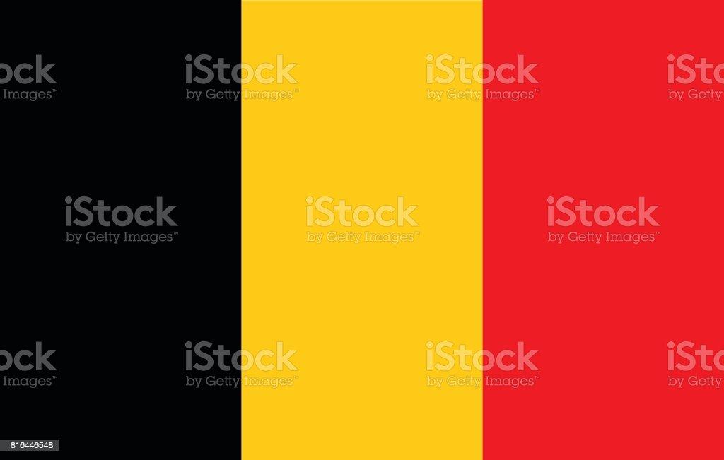 Belgische vlagvectorkunst illustratie