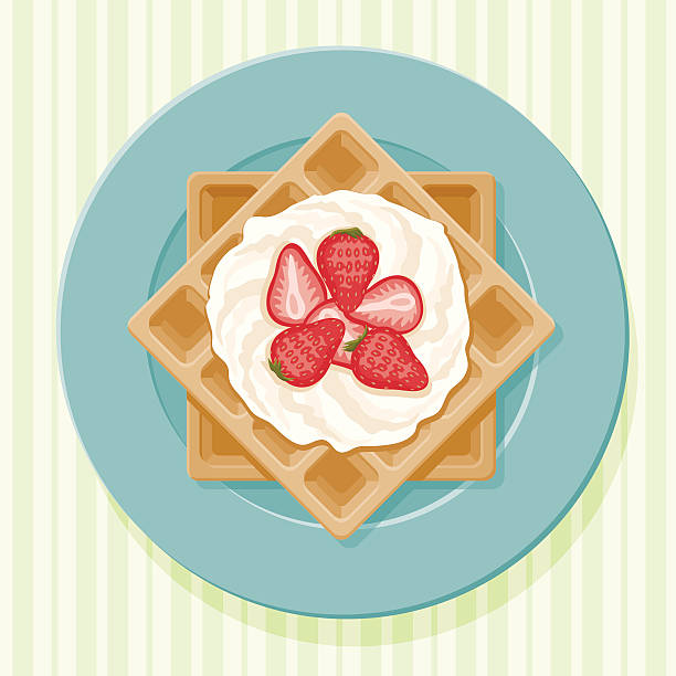 Belgian Waffles vector art illustration