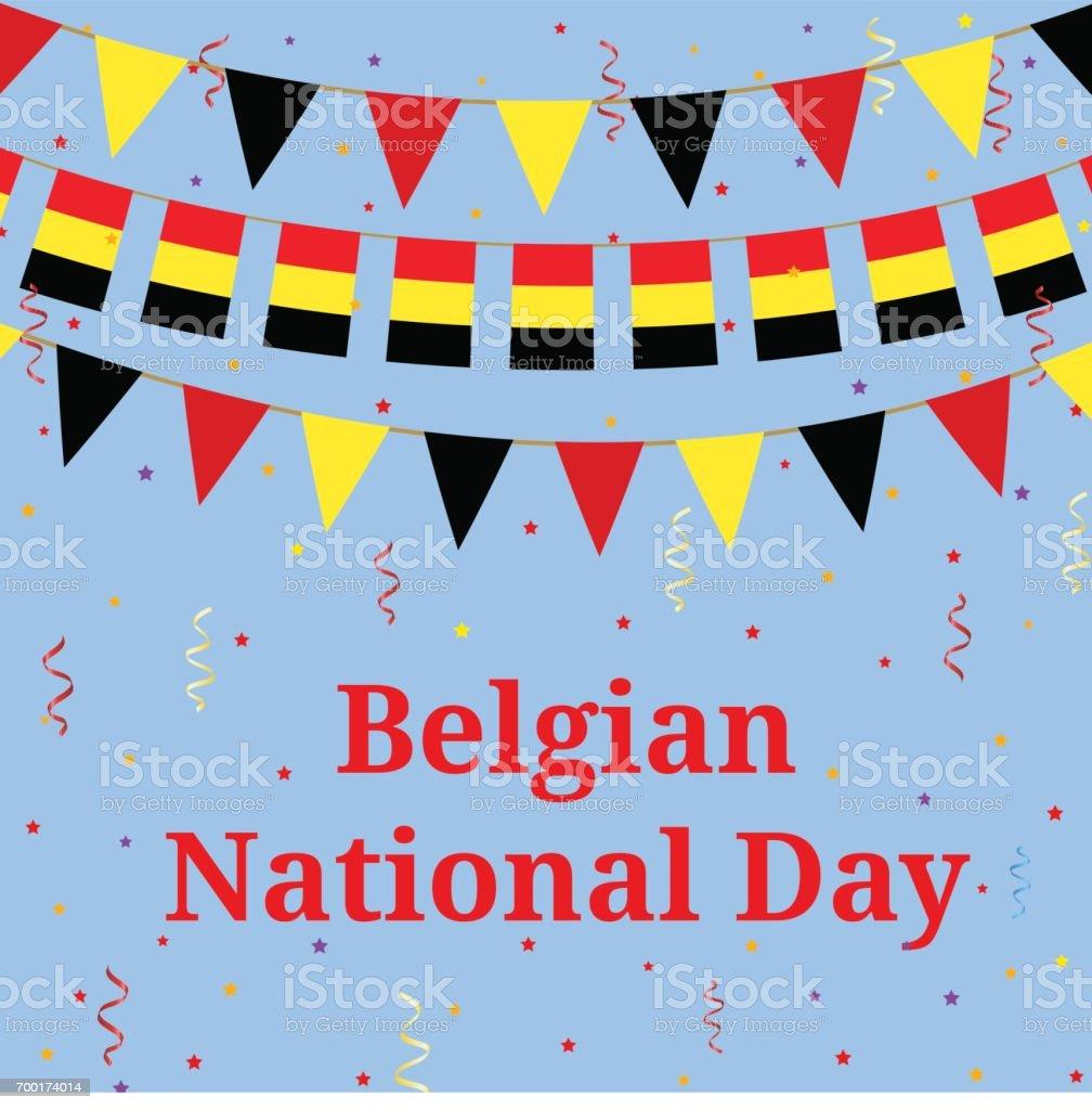 Belgium day vector art illustration