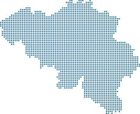 Belgien Karte Umriss.Gepunktete Karte Belgien Belgienkarte Punkte Hochdetaillierte