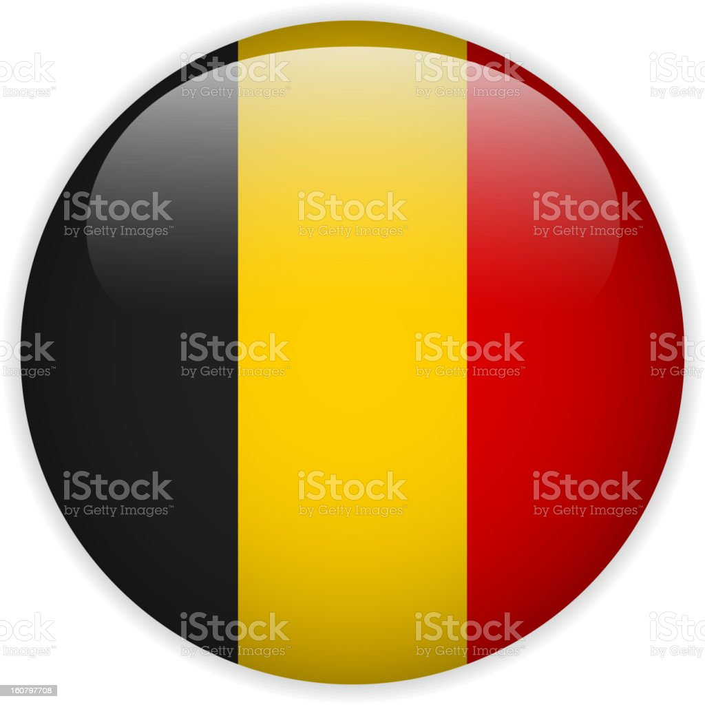 Belgium Flag Glossy Button royalty-free stock vector art
