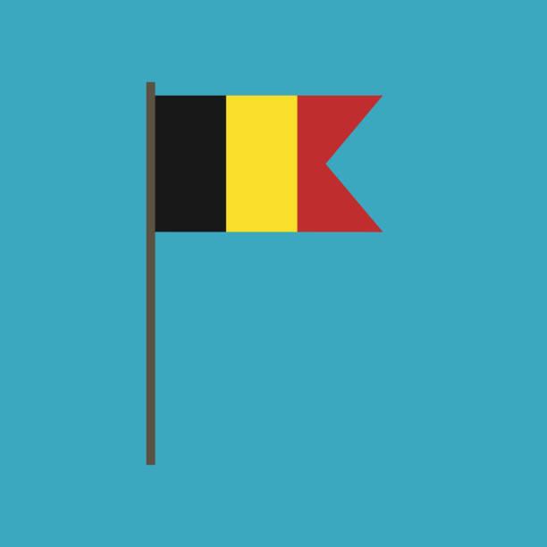 Belgium flag icon in flat design vector art illustration