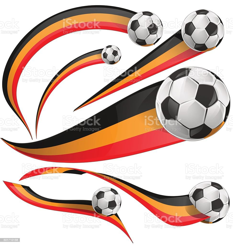 belgium flag set with soccer ball vector art illustration