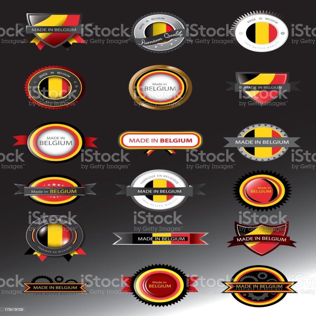 Belgium Flag royalty-free belgium flag stock vector art & more images of badge