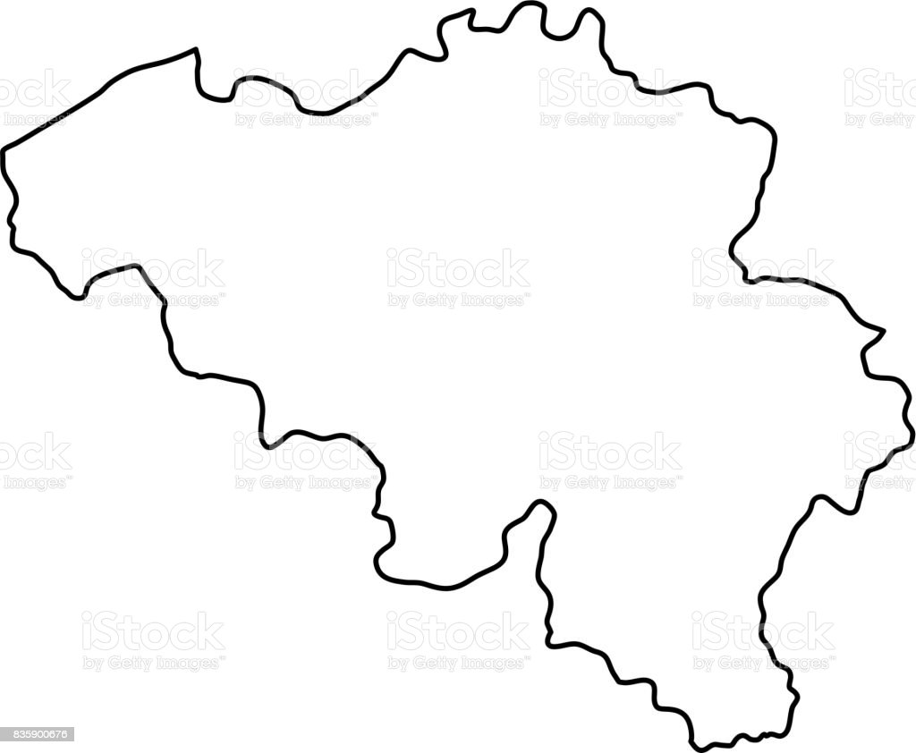belgium map of black contour curves of vector illustration royalty free belgium map of black