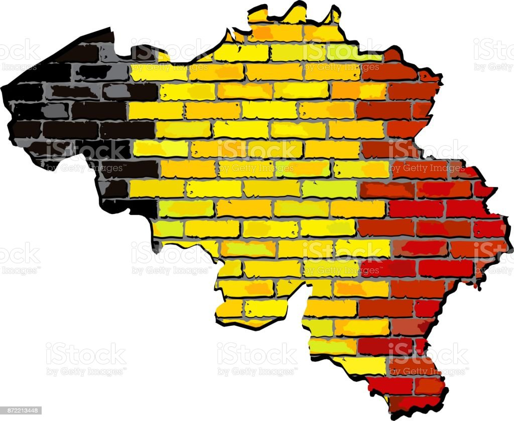 Belgium Map On A Brick Wall Stock Vector Art & More Images of ...
