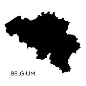 Vector illustration of the map of Belgium