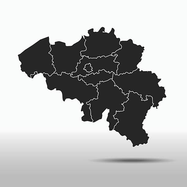 Mapa Belgia – artystyczna grafika wektorowa