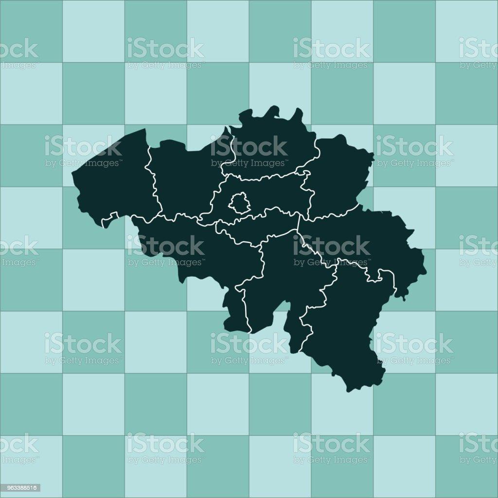 Belgien karta - Royaltyfri Abstrakt vektorgrafik