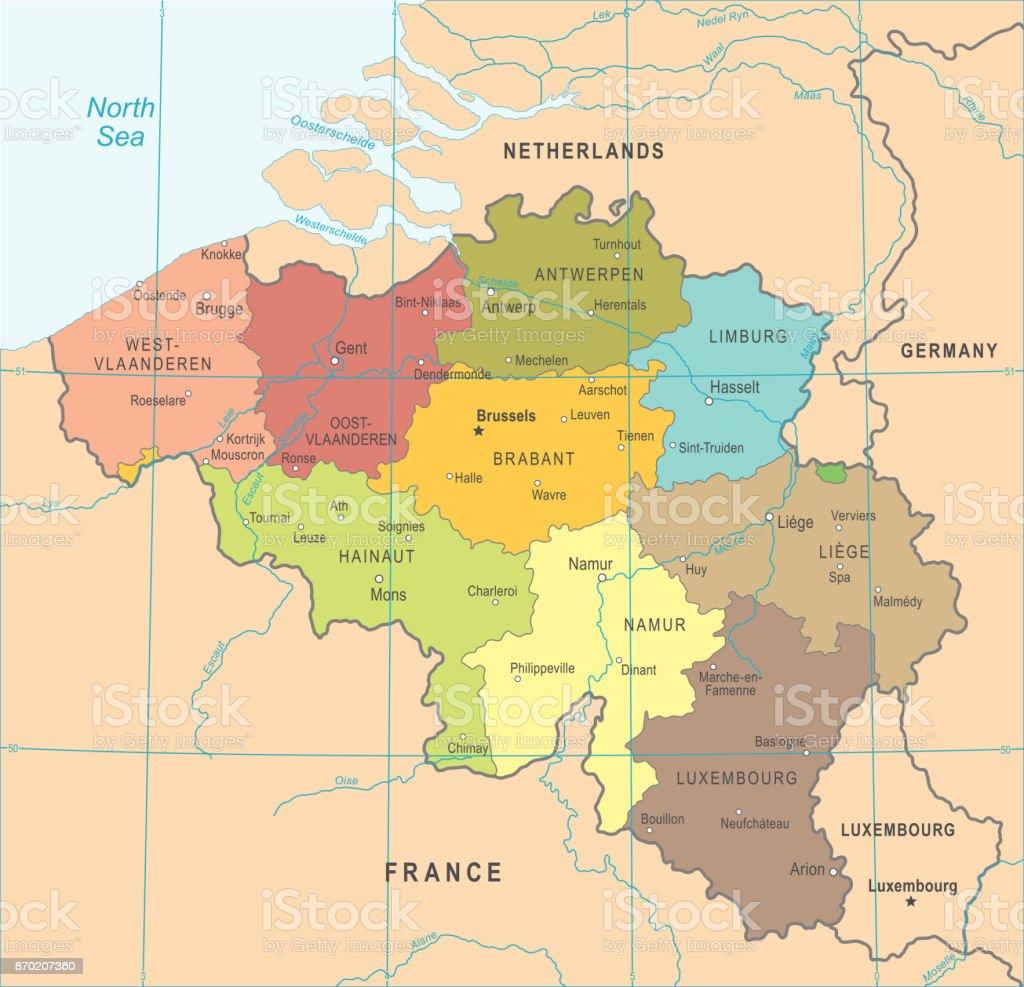 meer belgie kaart België Kaart Vectorillustratie Stockvectorkunst en meer beelden