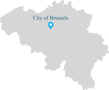 Belgien Karte Umriss.Belgien Landkarte Umriss Vektorgrafik Mit Provinzen Oder Staaten