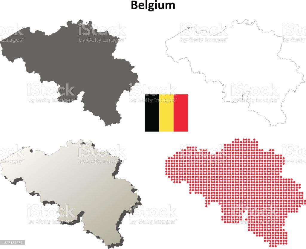 Carte Belgique Jeux.Jeu De Carte Pour Le Plan Belgique Vecteurs Libres De Droits