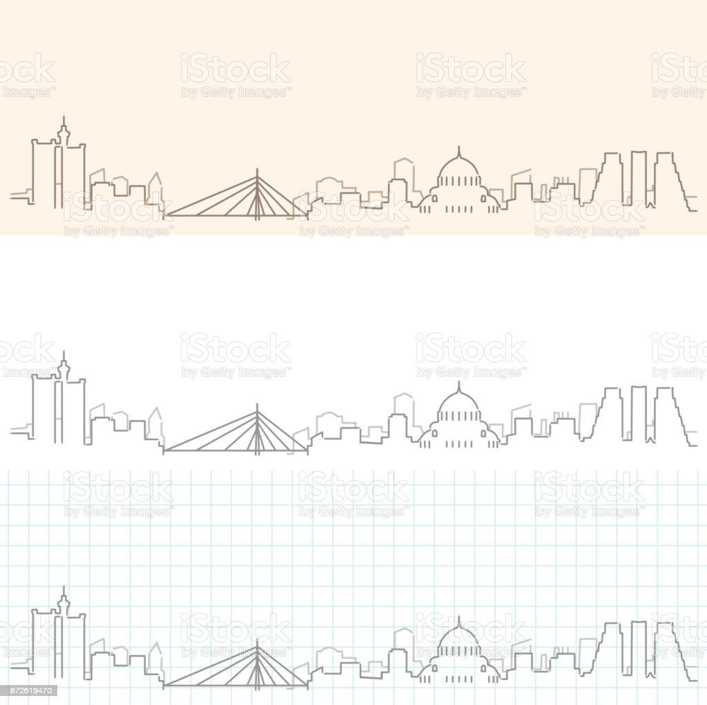 Belgrade Hand Drawn Skyline vector art illustration
