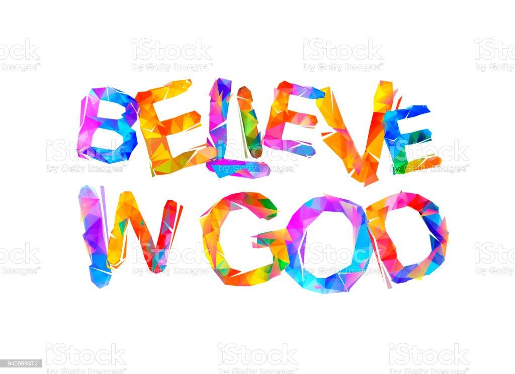 神を信じる三角形の手紙 アメリカ合衆国のベクターアート素材や画像を