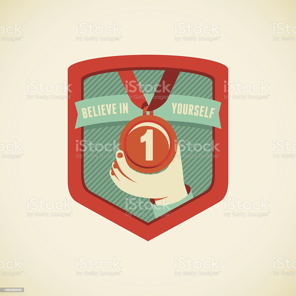 Believe in yourself royalty-free stock vector art