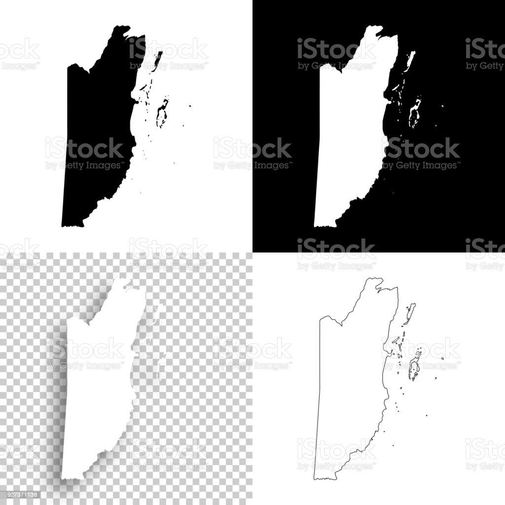 Belize maps for design - Blank, white and black backgrounds - Royalty-free Abstract stock vector