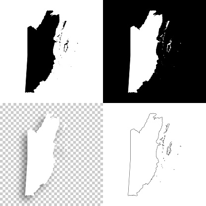 Belize Maps For Design Blank White And Black Backgrounds Stock Illustration - Download Image Now