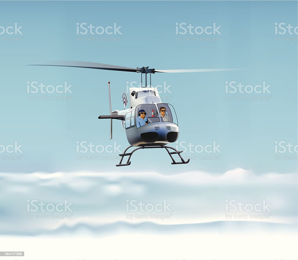 Bell 206B Helicopter royalty-free stock vector art
