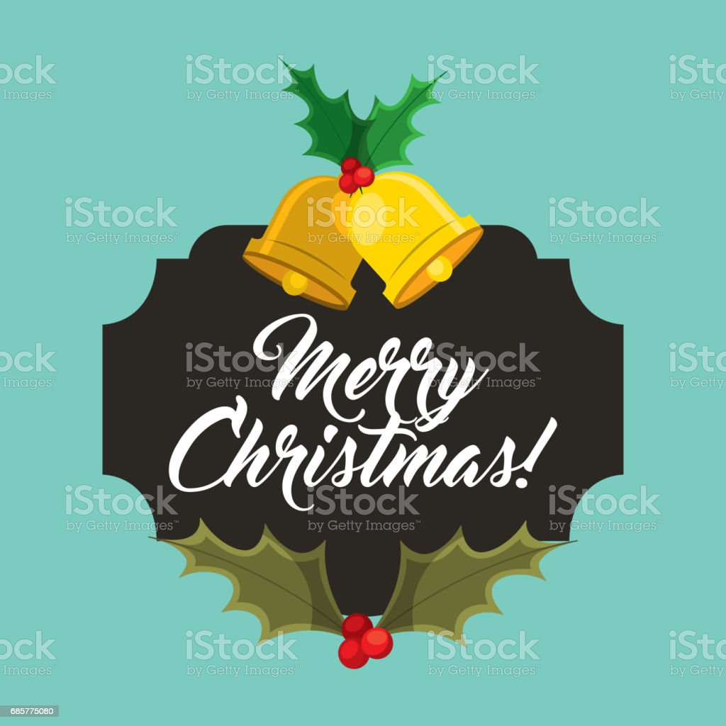 bell and leaves icon. Merry Christmas design. Vector graphic royalty-free bell and leaves icon merry christmas design vector graphic stock vector art & more images of arts culture and entertainment