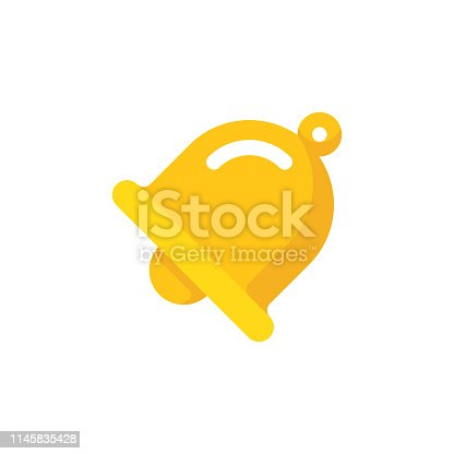 istock Bell Flat Icon. Pixel Perfect. For Mobile and Web. 1145835428