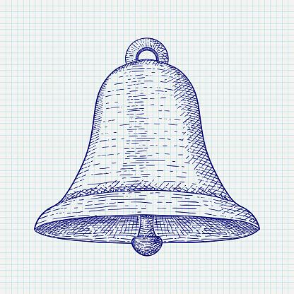 Bell. Hand drawn sketch