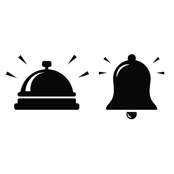Bell icon isolated on white background. - Illustration vectorielle
