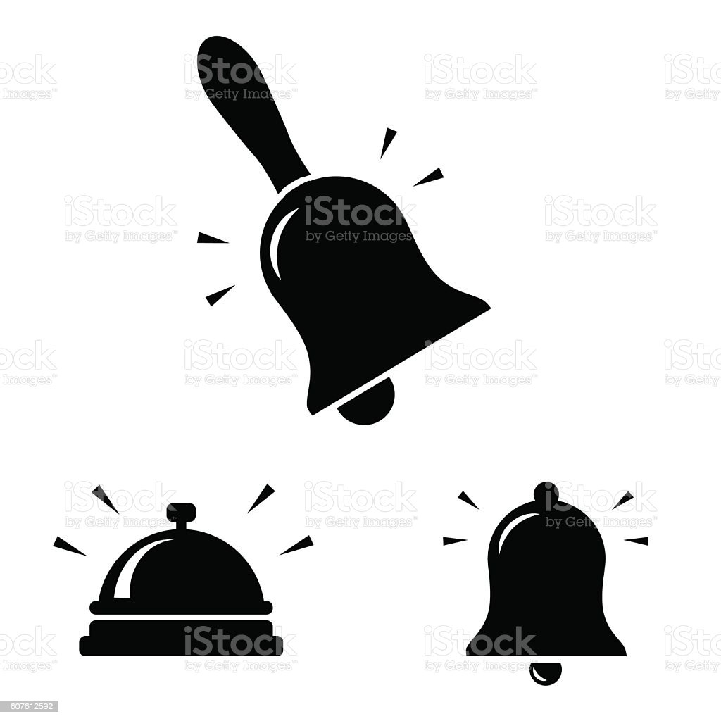 Bell icon isolated on white background. vector art illustration