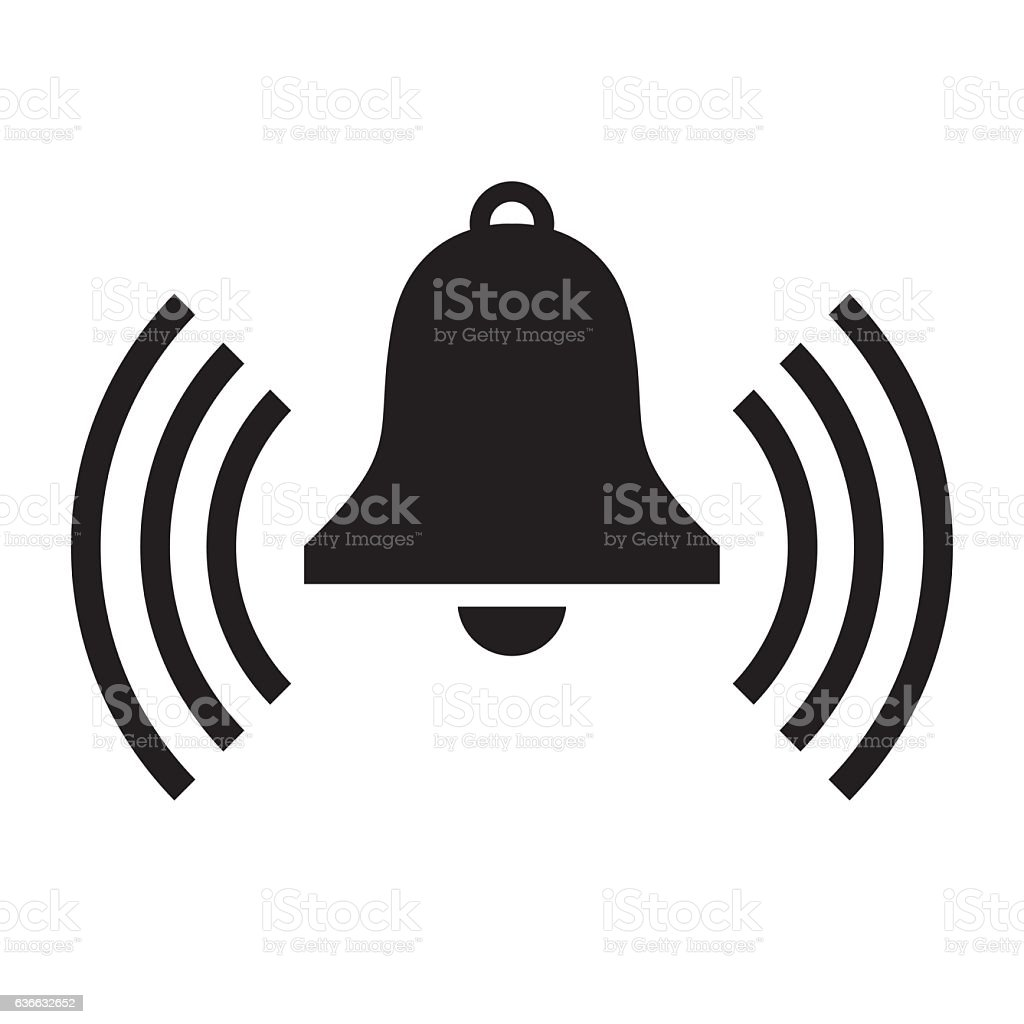 Bell Icon vector art illustration