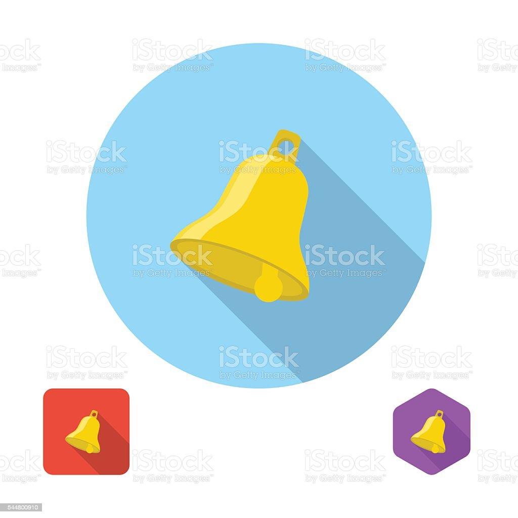Bell icon vector vector art illustration