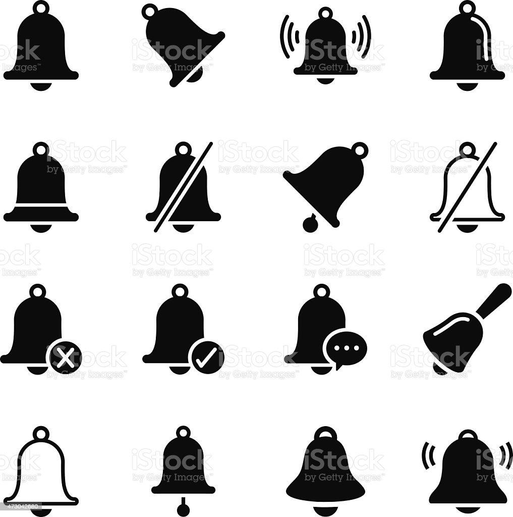 Bell Icons vector art illustration