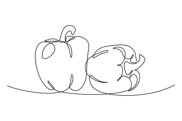 ilustrações de stock, clip art, desenhos animados e ícones de bell peppers - red bell pepper isolated