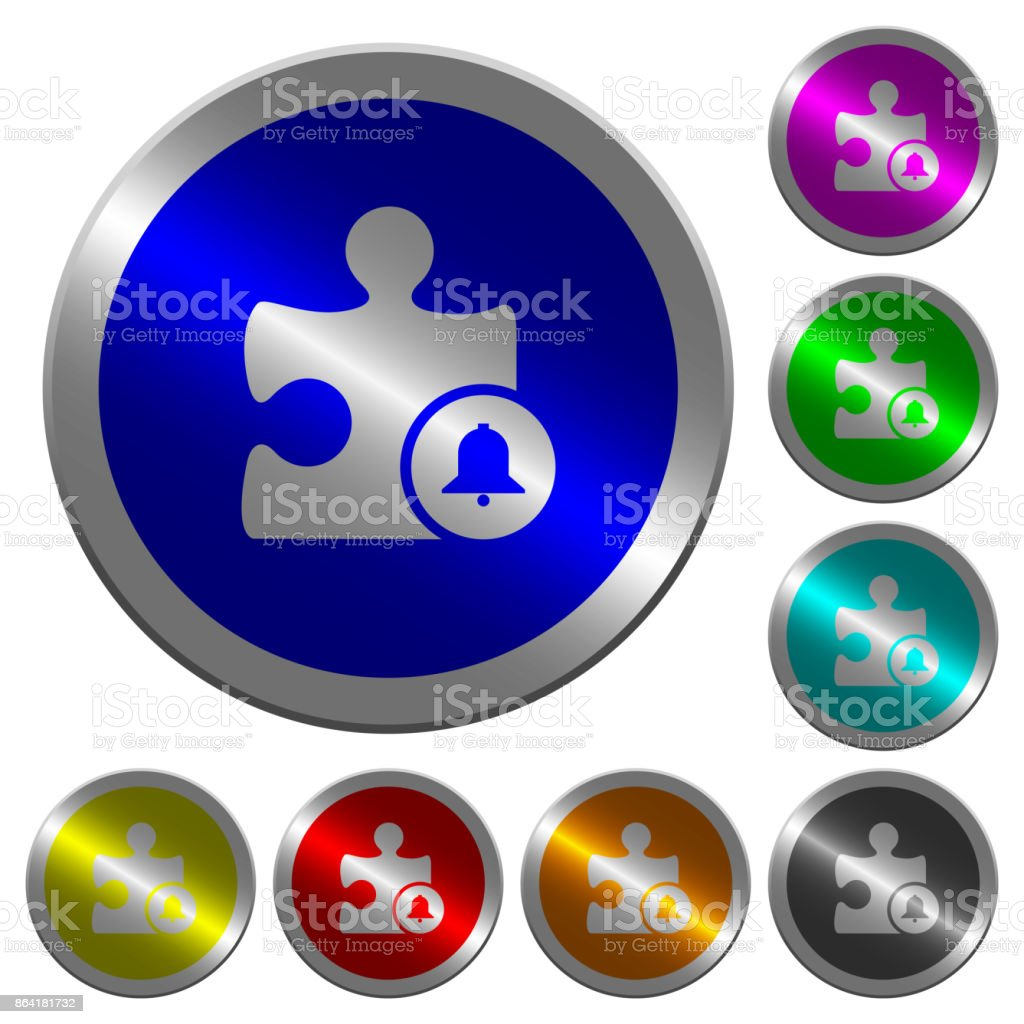 Bell plugin luminous coin-like round color buttons royalty-free bell plugin luminous coinlike round color buttons stock vector art & more images of alarm