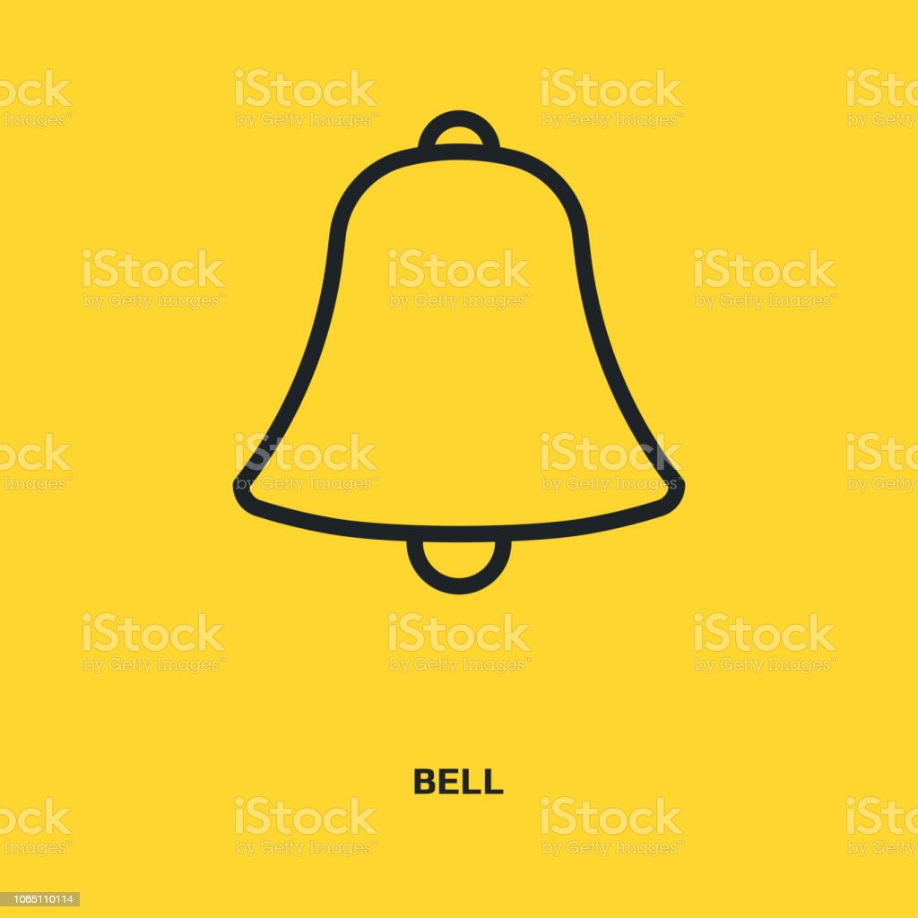 Bell Sign Icon Sound Sign Alarm Hand Bell Symbol Stock Illustration