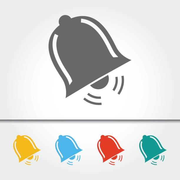 ilustrações, clipart, desenhos animados e ícones de ilustração em vetor único ícone bell - ícones de festas e estações
