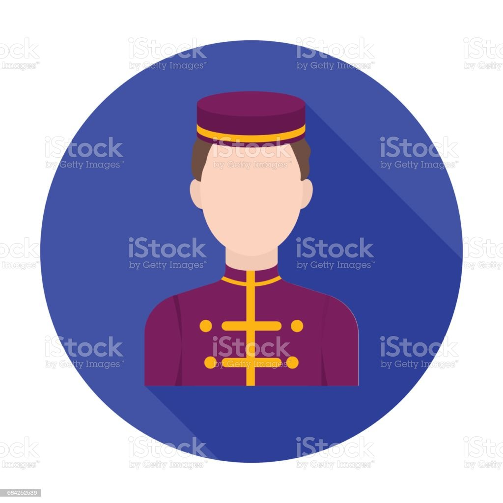 Bellboy icon in flat style isolated on white background. Hotel symbol stock vector illustration. royalty-free bellboy icon in flat style isolated on white background hotel symbol stock vector illustration stock vector art & more images of adult