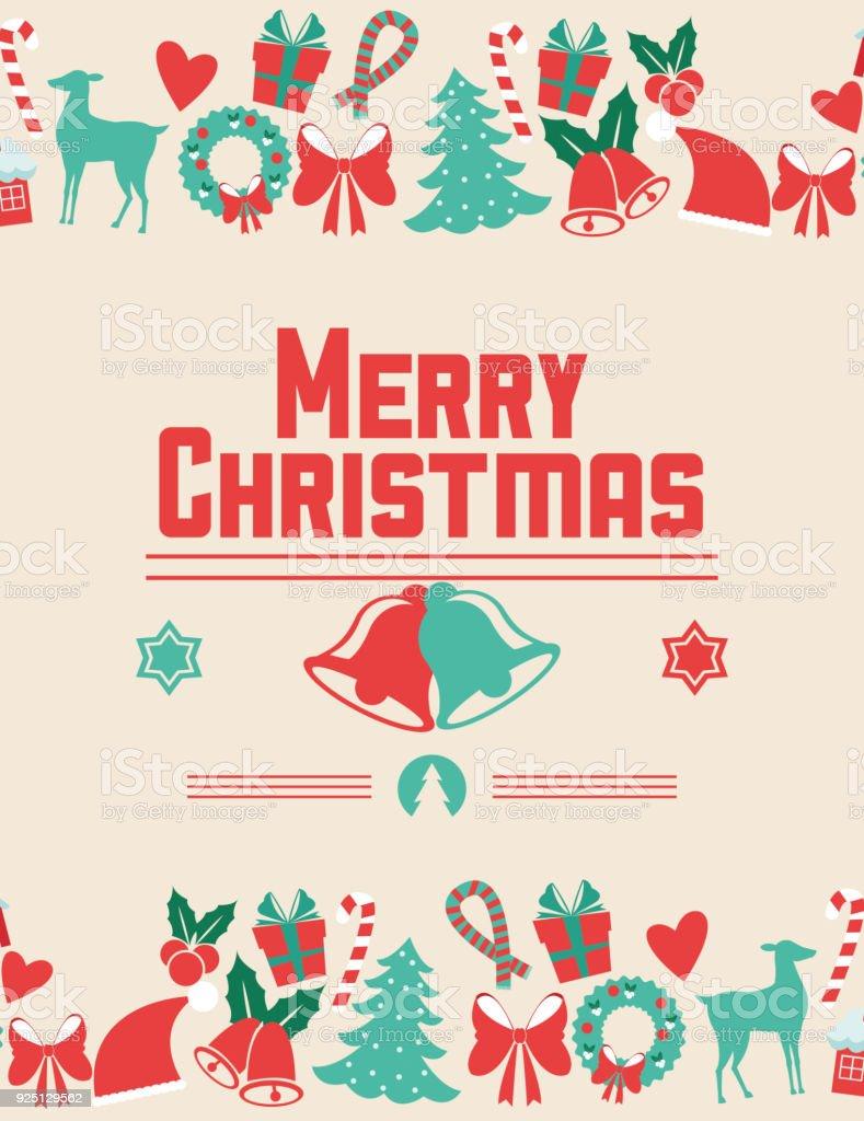 Bells and icon set of Christmas season design vector art illustration