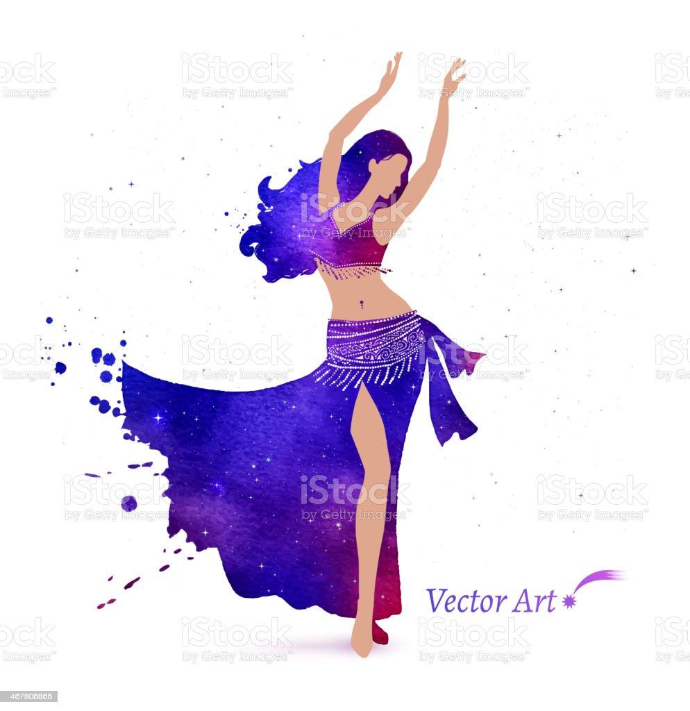 Belly dancer. vector art illustration