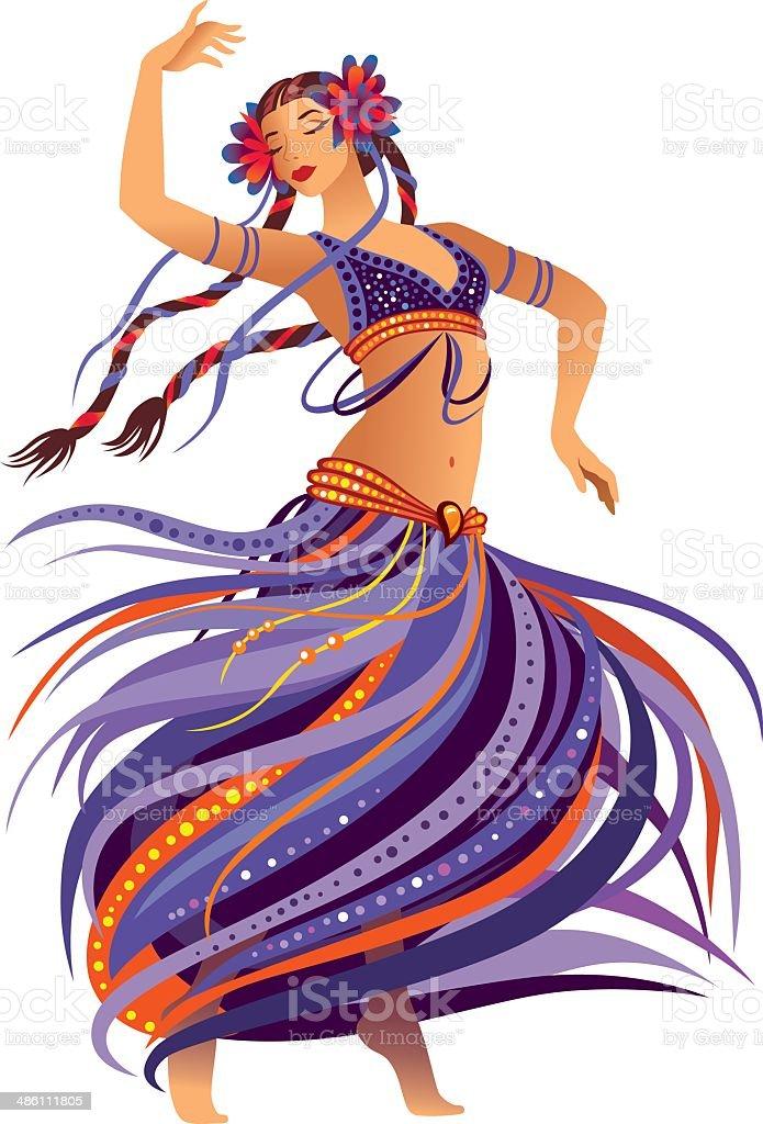 Belly Dancer vector art illustration