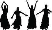 Belly Dancers Silhouette
