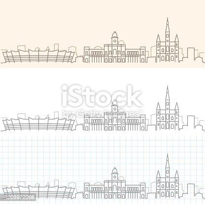 Belo Horizonte Hand Drawn Profile Skyline