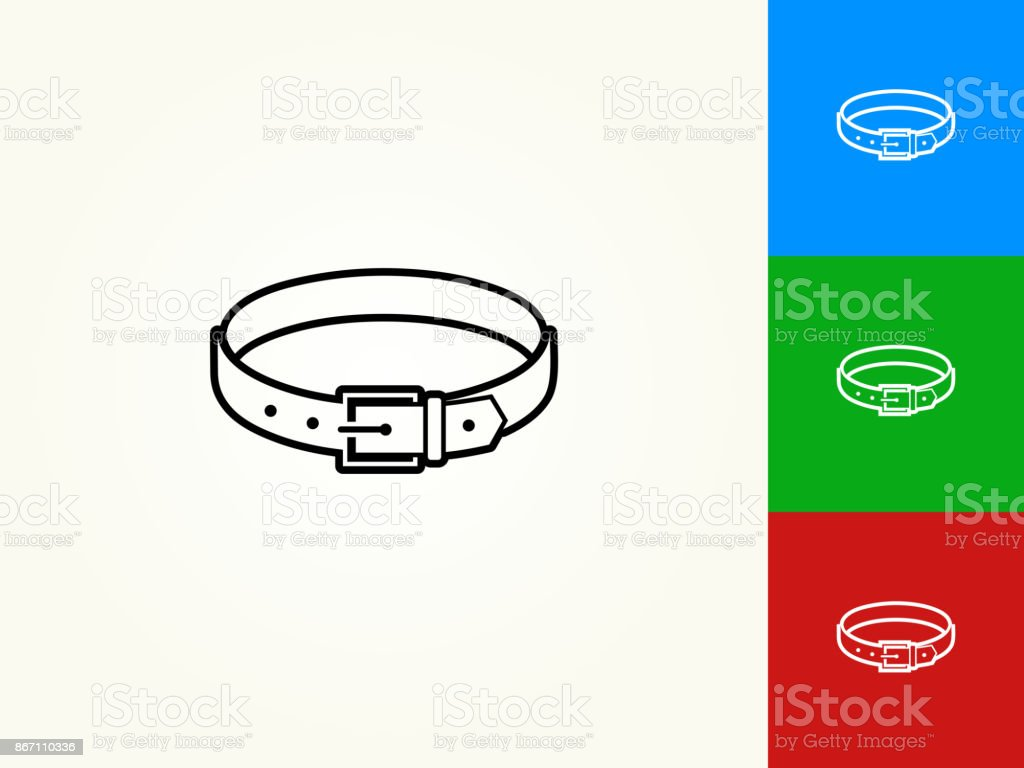 Belt Black Stroke Linear Icon vector art illustration