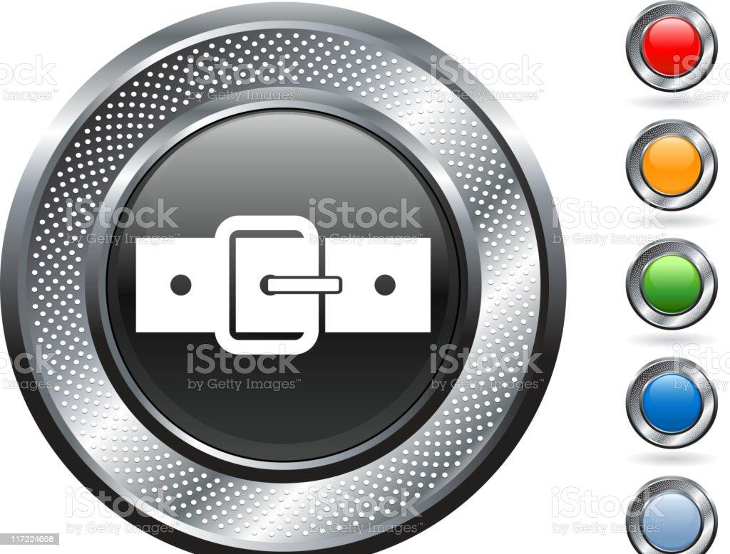 belt buckle royalty free vector art on metallic button royalty-free stock vector art