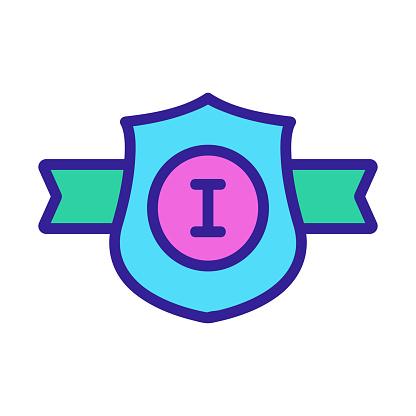 Belt champion icon vector. Isolated contour symbol illustration