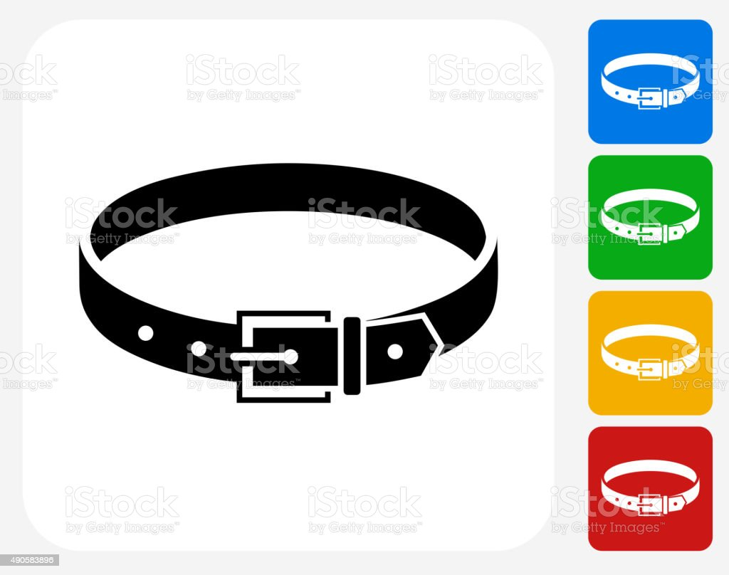 Belt Icon Flat Graphic Design vector art illustration